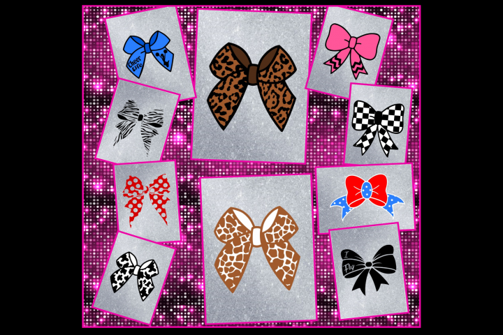 Cheer Bow Design Files -Layered and Silhouette