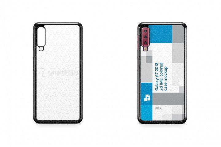 Samsung Galaxy A7 2d PC Colored Case Design Mockup 2018