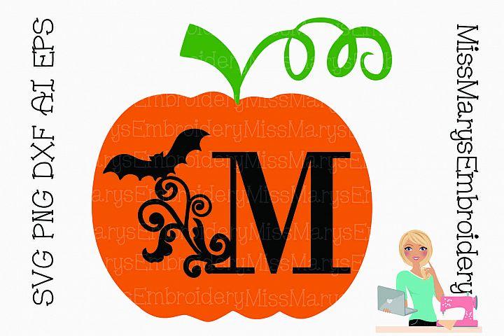Bat Swirl Pumpkin Letters SVG Cutting File PNG DXF AI EPS