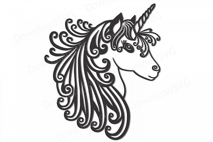 SVG and PNG cutting files, Unicorn, Clipart, Vector