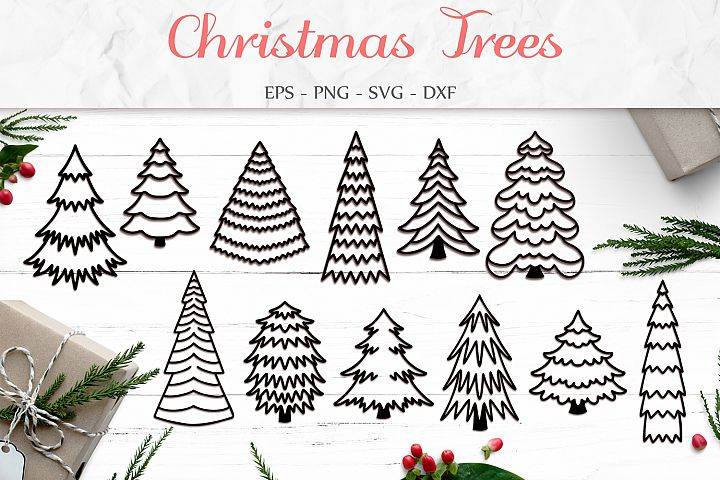 Christmas Tree Svg, Christmas Bundle, Tree Clip Art