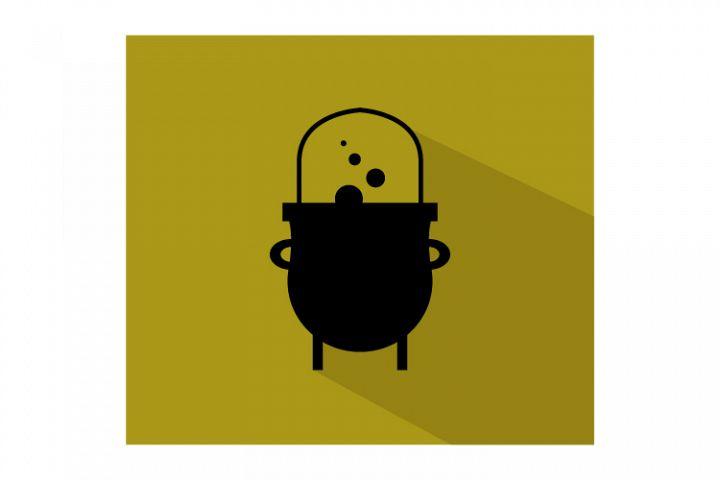 Halloween cauldron icon