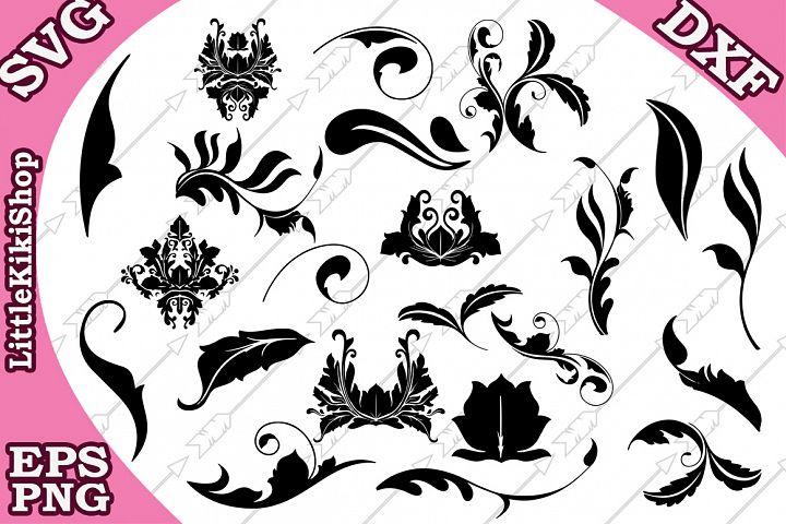 Flourish Svg , Doodles Svg,Swirls Svg,Flourish cut file