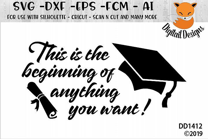 Graduation Quote SVG