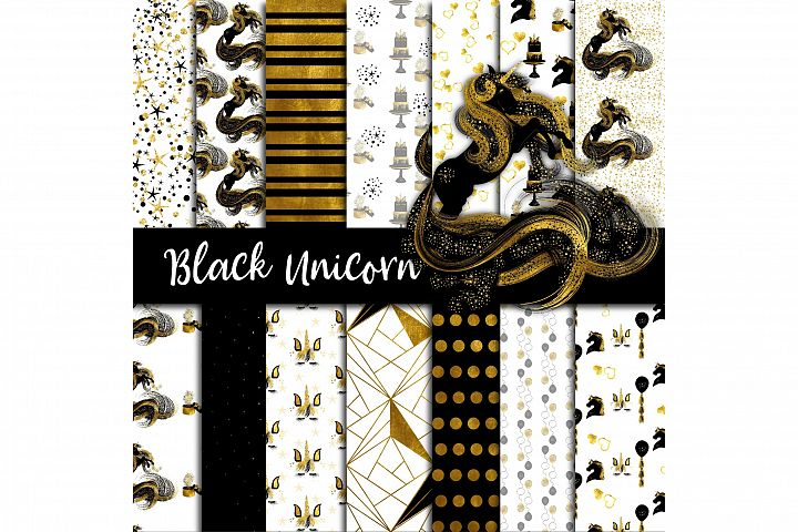 Black Unicorn Digital Paper