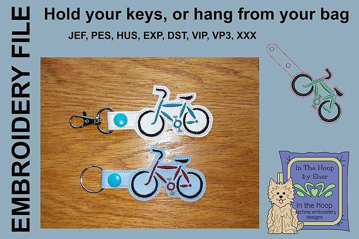 ITH Basic Bike Key Fob - Embroidery Design