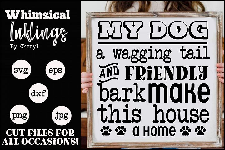 A Wagging Tail-Dog SVG