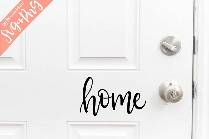 Handlettered Home SVG & PNG