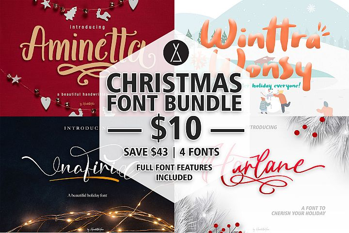 Christmas Font Bundle