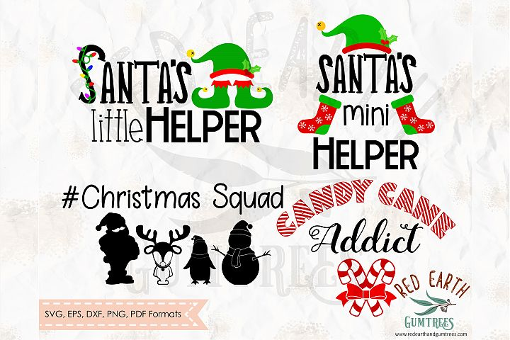 Kids shirt Christmas bundle in SVG,DXF,PNG,EPS,PDF formats