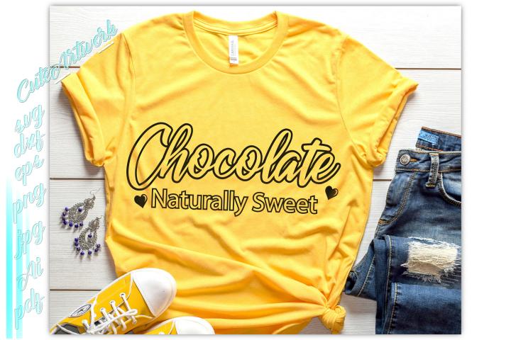 Chocolate Naturally Sweet SVG, melanin svg, black woman svg