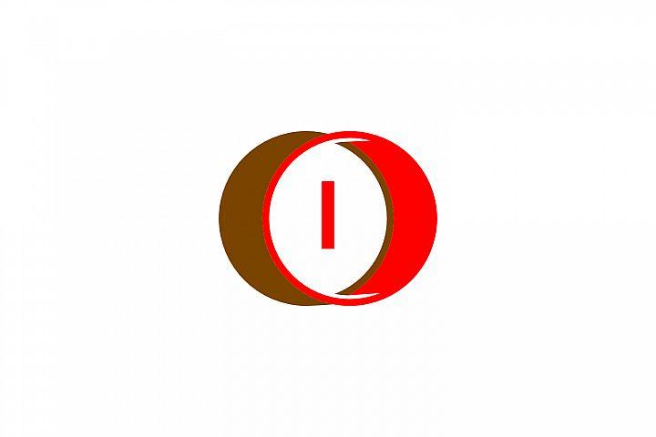 i letter circle logo