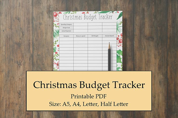 Christmas Budget Tracker