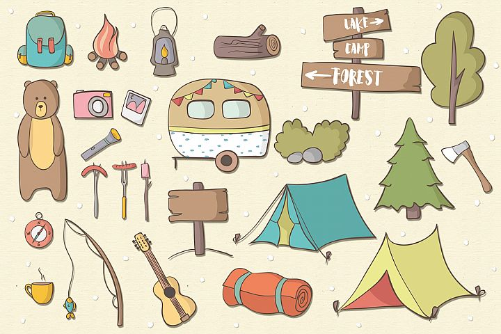 Lets Go Camping - Free Design of The Week Design 1