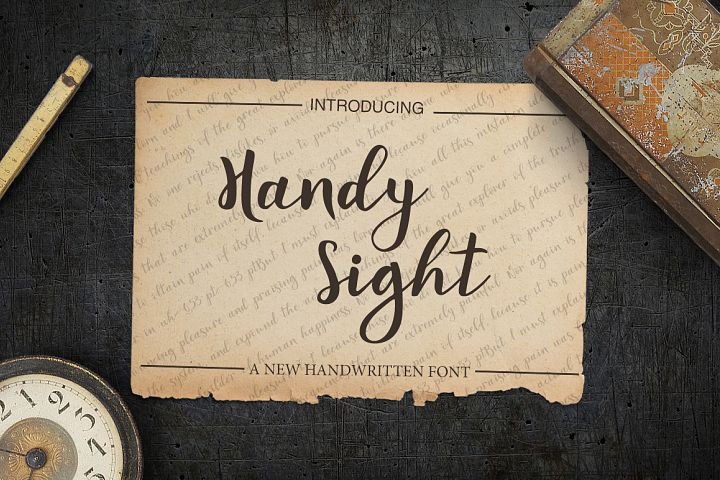 Handy Sight - font example image 1