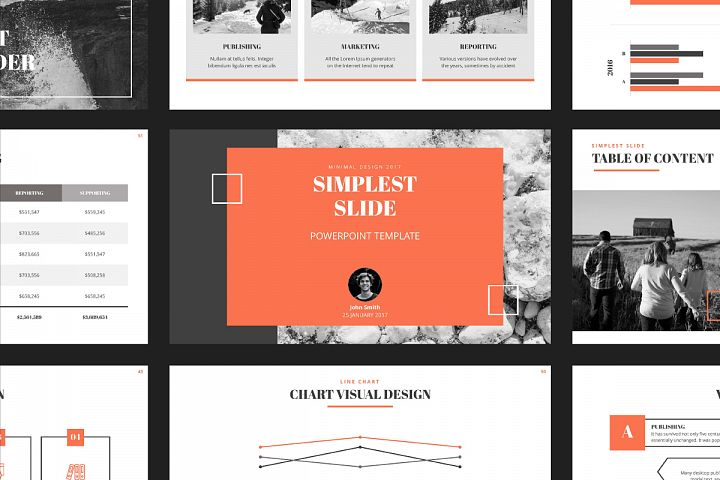 Simplest Slide PowerPoint Template