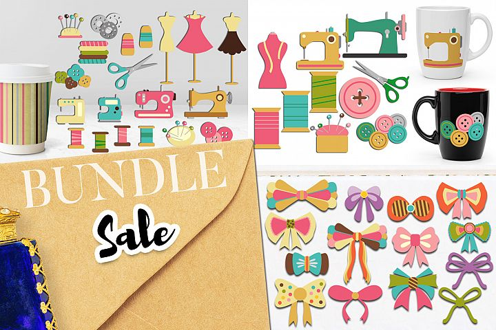 Sewing graphic bundle - Craft hobby illustrations