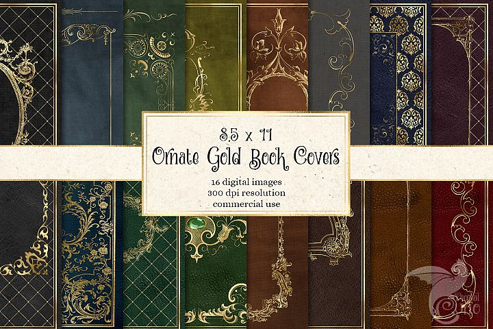 Ornate Gold Book Covers