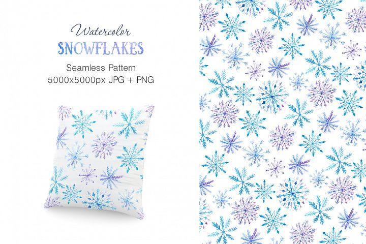 Watercolor Snowflakes Set Vol.2 - Free Design of The Week Design 2