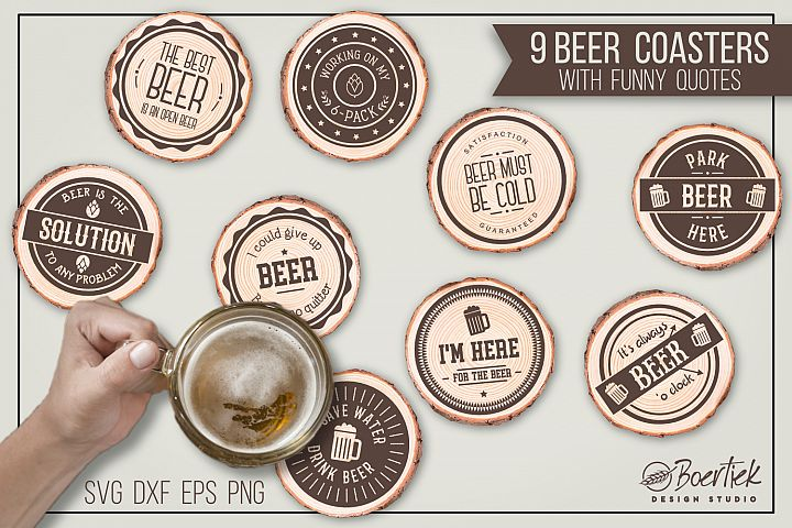 Beer coasters with funny quotes