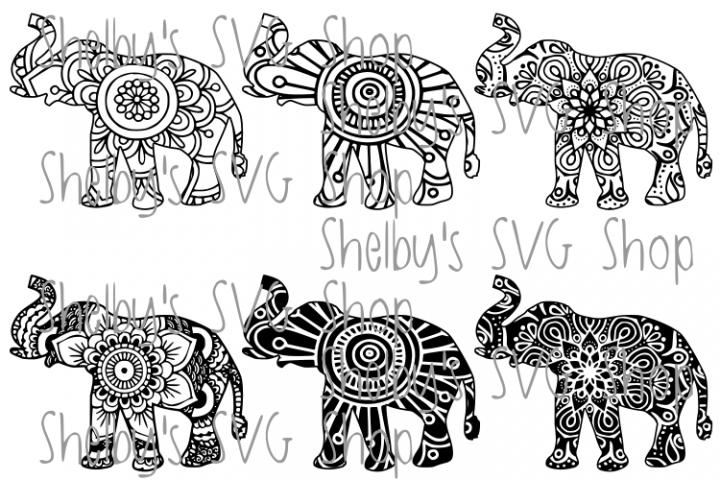 Elephant Mandala Bundle - SVG
