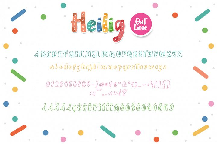 Heilig Display 3 Font example 5