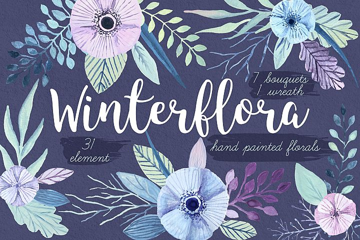 Winterflora floral set