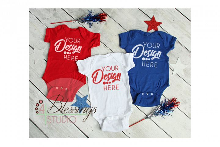 d628706d Baby Mockup Red White Blue Shirts Mock Up Patriotic Flat Lay