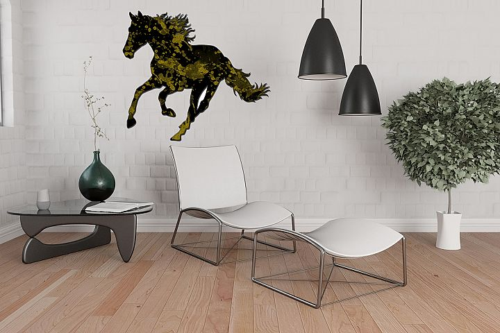 Horse wall art  - size 24x36 inches - High Resolution (300 dpi) -  ( JPG File )    &   Clipart  ( PNG File )