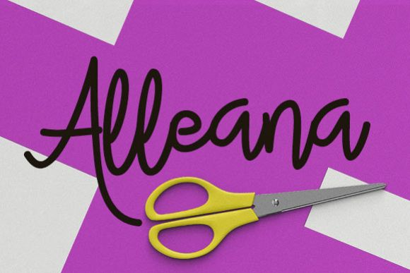 Alleana - Free Font of The Week Font