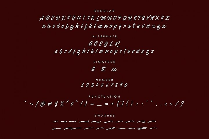 Alterlight - Free Font example 3