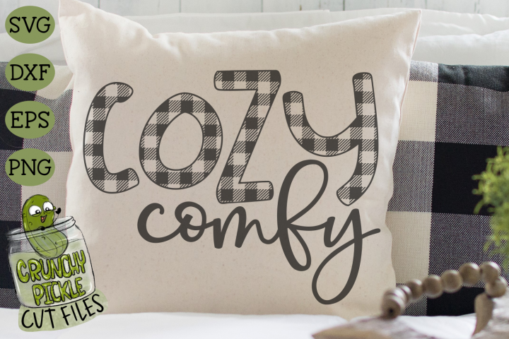 Buffalo Plaid Cozy Comfy SVG File