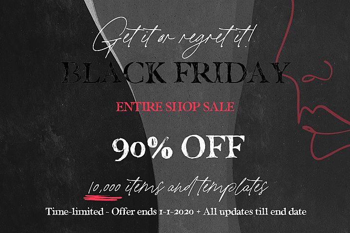 Black Friday Entire Shop SALE 2019
