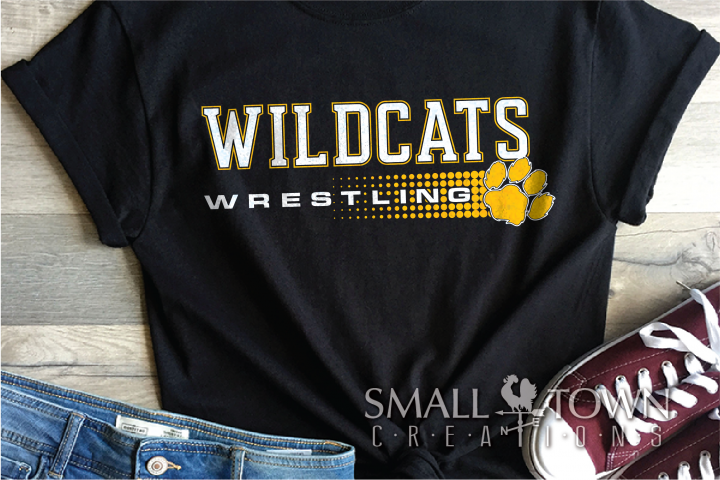 Wildcat, Wrestling, Sports, Team, Design, PRINT, CUT, DESIGN