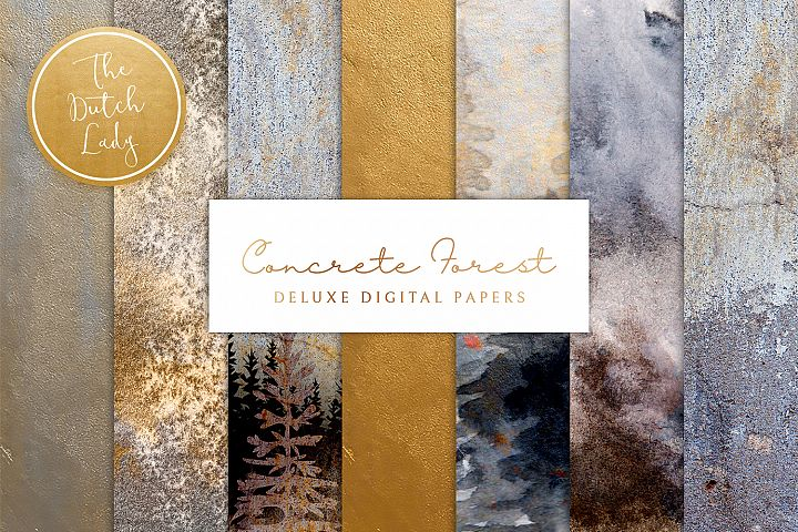 Digital Backgrounds & Papers - Concrete Forest