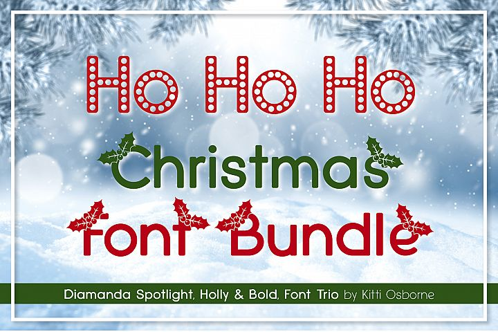 Spotlight, Holly and Bold, Diamanda Christmas Trio Bundle