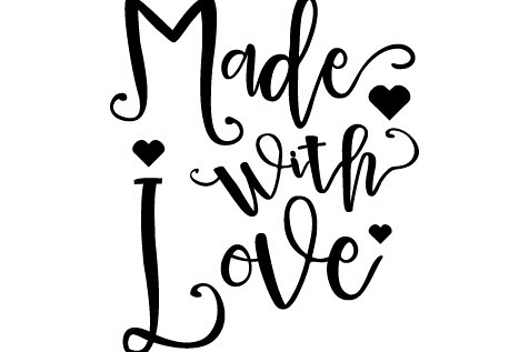 Made with Love  Svg Dxf Png Jpg Eps vector file Cut Files