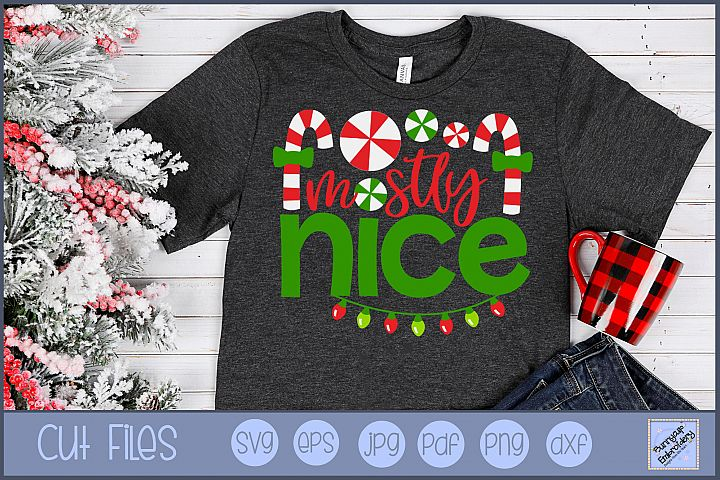 Mostly Nice - SVG, Clipart, Printable