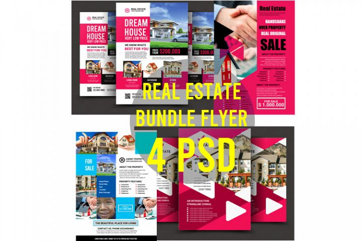 Real Estate Bundle 4 psd Flyer