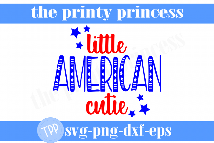 Little American Cutie svg, fourth of july svg, patriotic svg