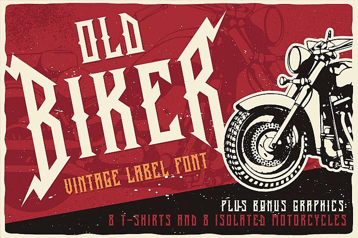 Old Biker Label Font plus Bonus