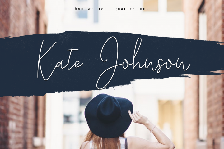 Kate Johnson - A Signature Script Font (with alternative)