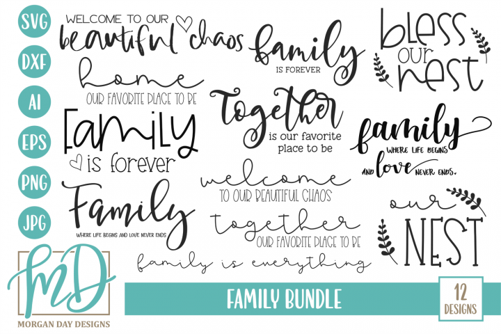 Welcome - Home - Doormat - Sign - Family Bundle SVG
