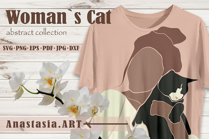 Abstract collection Woman Cat