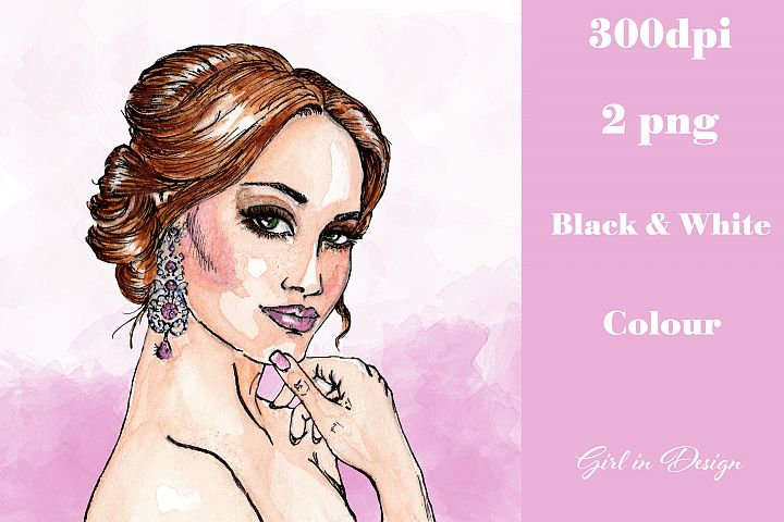 Earring Girl Jewellery Party New Year Clipart