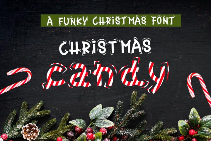 Christmas Font - Christmas Candy