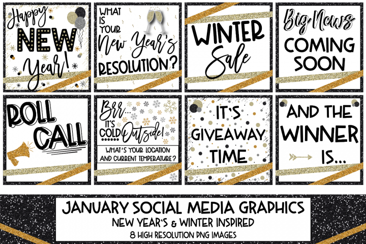Social Media Graphic Bundle - January