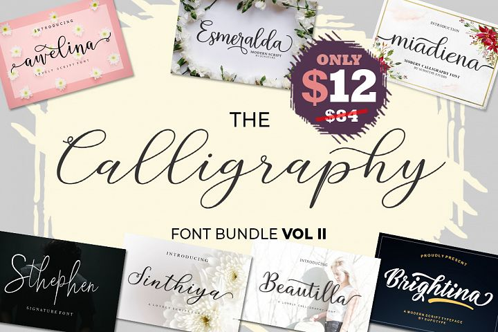 The Calligraphy Font Bundle Vol ll
