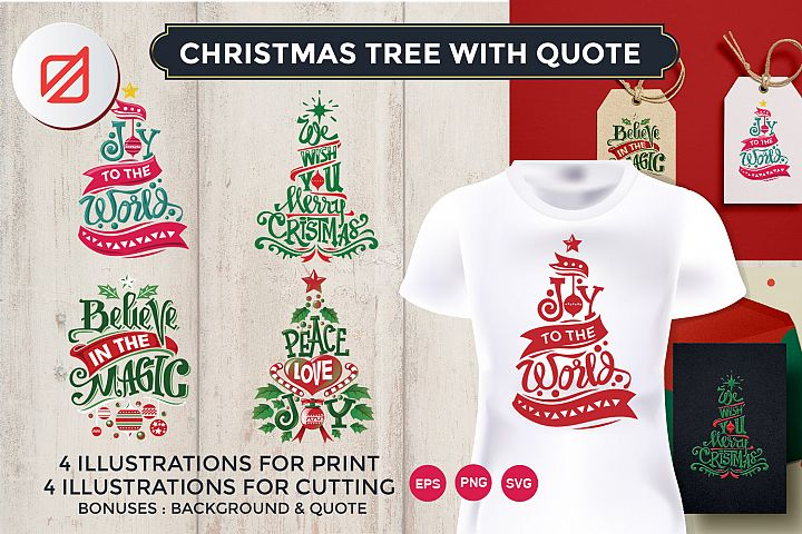 Christmas Tree with Quote Cutting File