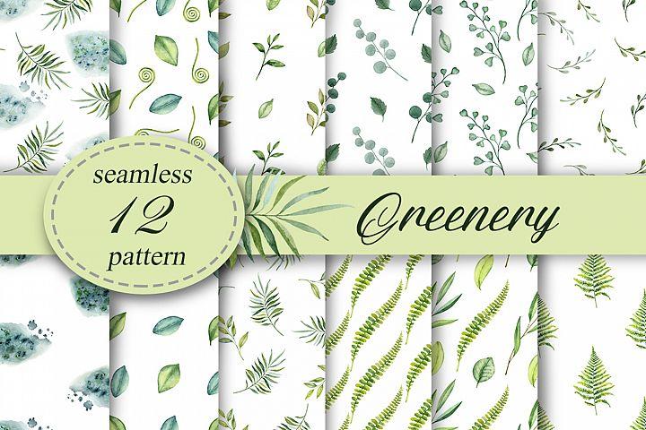 Greenery seamless patterns